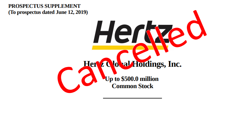 Hertz Deal Cancelled